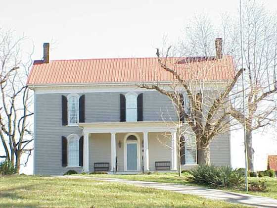 Herod House on the Hartsville Battlefield. Bloodstains on the floor indicate that the wounded were treated here.