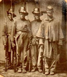 Troops of the 33rd USCT South Carolina Regiment