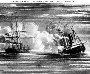 css alabama sinking the hatteras
