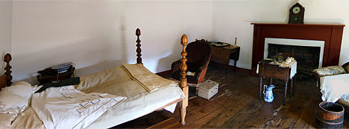 The room at Guinea Station where Jackson died.