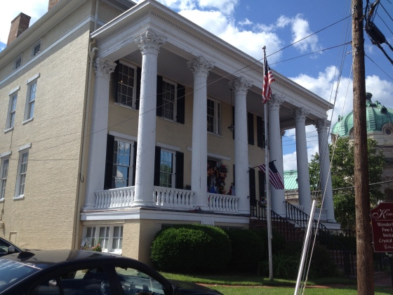 The Logan House in Old Town Winchester - the headquarters of Milroy - now a giant gift shop