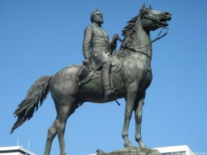 Statue in Washington:   Erected 1879 at Thomas Circle, Vermont and Massachusetts Avenues at 14th Street, N.W… Sculptor: John Quincy Adams Ward.